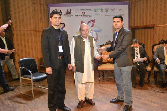 Kafka Umair Award Receiving